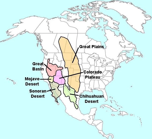 GotBooksMiraCostaedu - Map of the us deserts