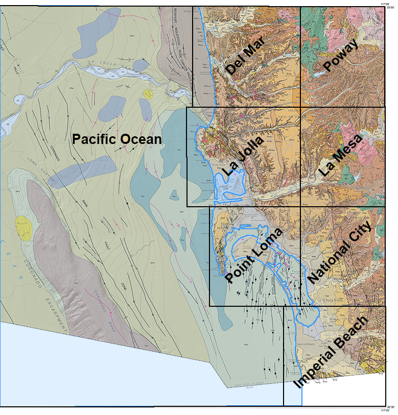 Geology Maps of San go County on
