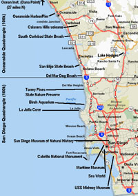 California Map San Diego County.Geology Field Trips In San Diego County Ca