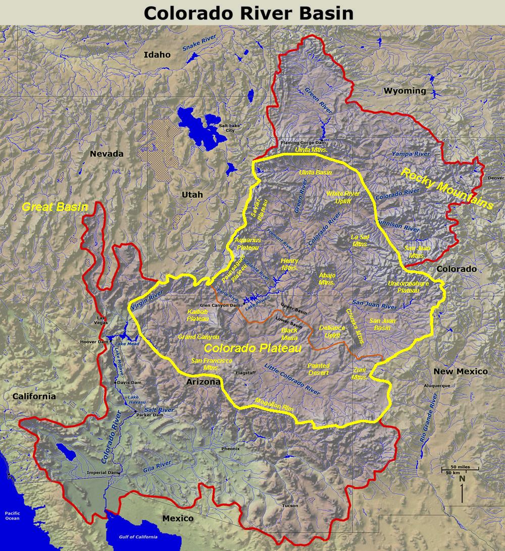 GotBooksMiraCostaedu - Map of colorado plateau region