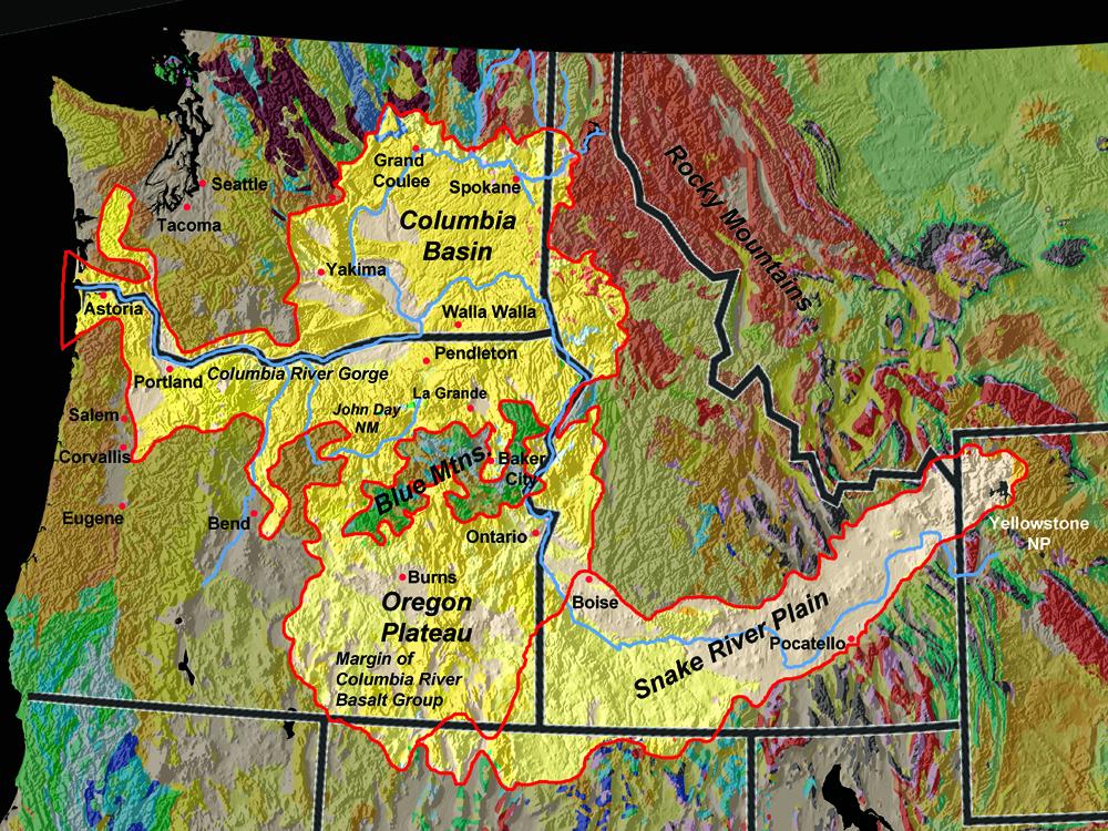 Scablands Washington Map.Gotbooks Miracosta Edu