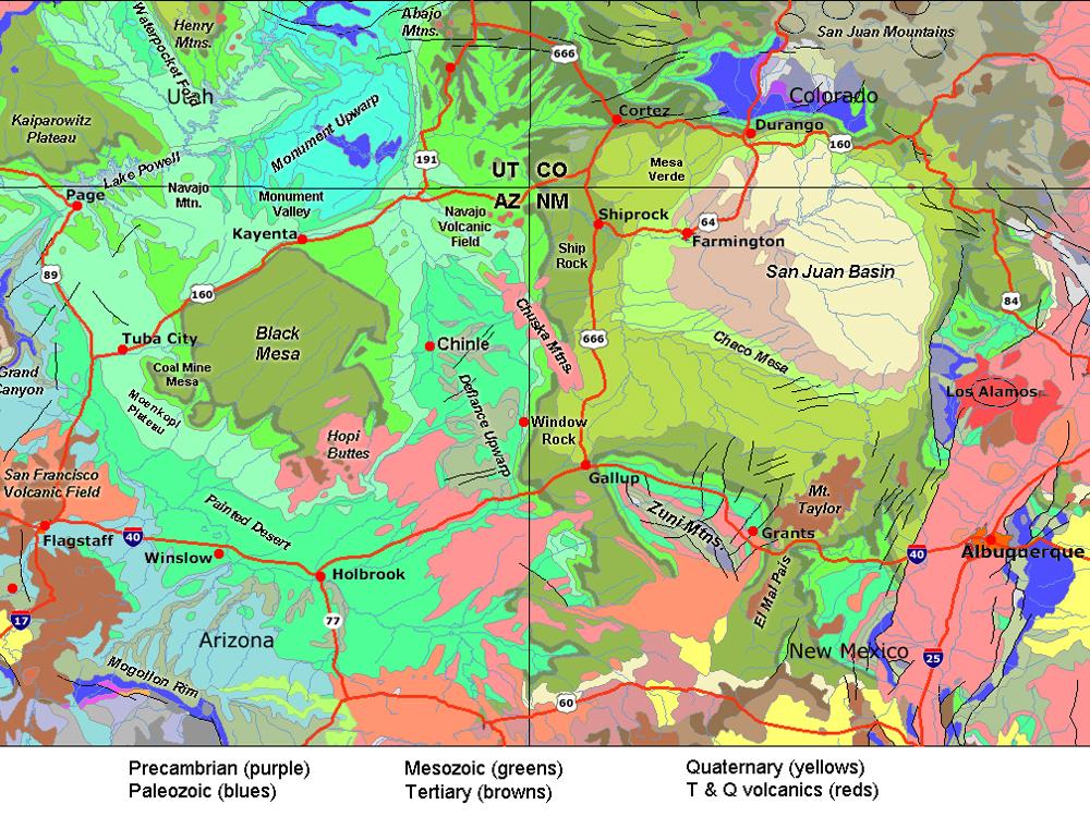 Geologic Map Of Arizona.Gotbooks Miracosta Edu