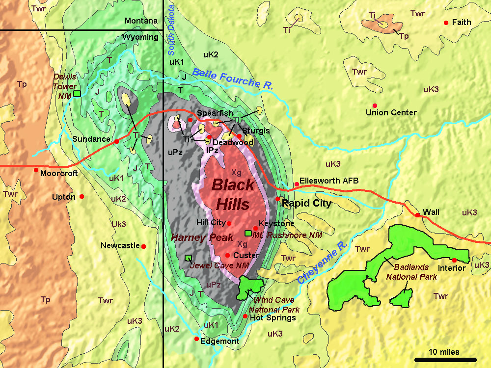 Devils Tower Wy >> Devils Tower & Black Hills - Geology of Wyoming