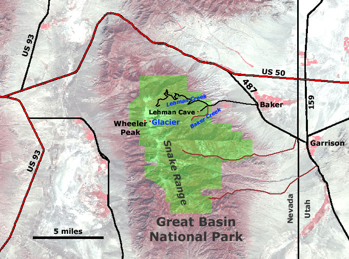 Great Basin National Park Map Great Basin National Park