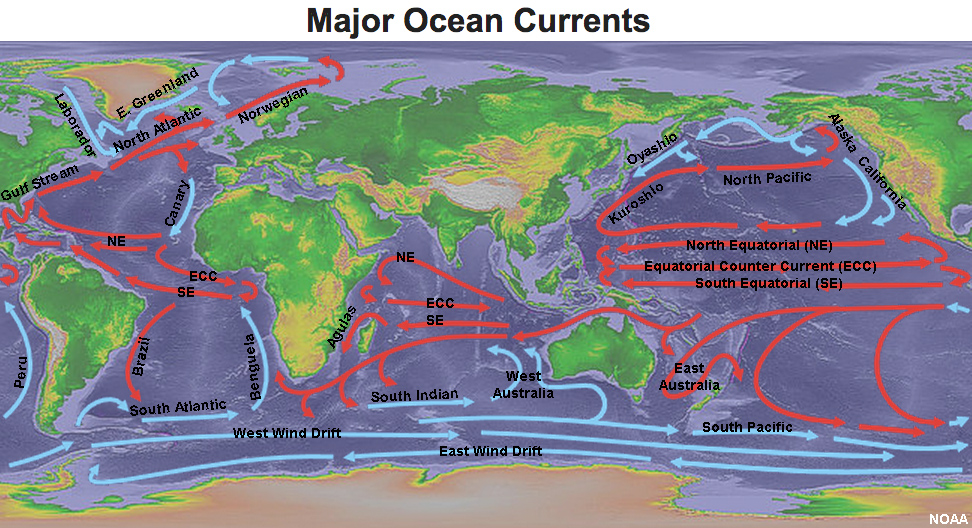 Gotbooksmiracostaoceans major ocean currents of the world gumiabroncs Choice Image